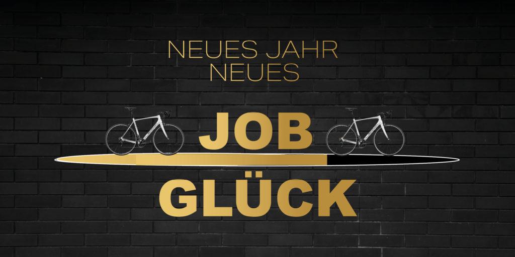 Neues Jahr neues Jobglueck mit Fahrrad